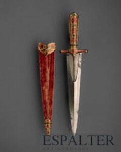 Daga antigua histórica, compramos dagas antiguas