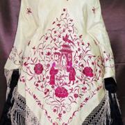 Mantón de manila antiguo, compramos mantones antiguos