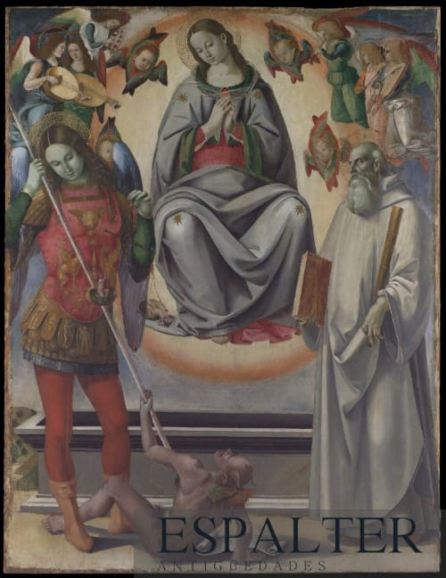 Cuadro de la asunción de la Virgen siglo XVIII