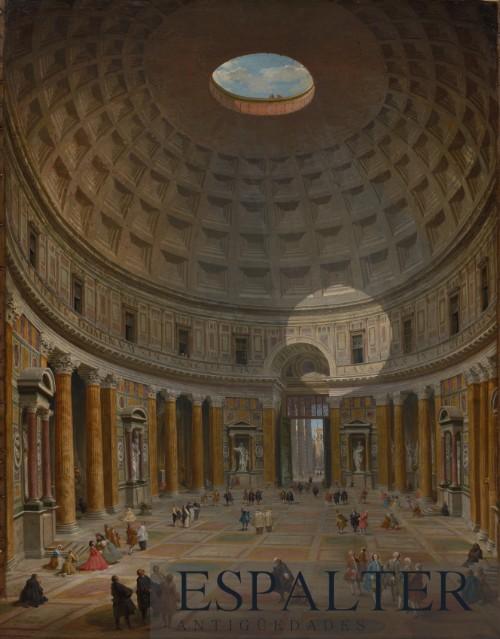 Cuadro de ciudad vaticano, compra venta de cuadros de paisajes urbanos, comprador de pinturas de cuadros de ciudades del siglo XVI XVII XVII, cuadros antiguos de ciudades, cuadros históricos de ciudades antiguas, pinturas antiguas de ciudades